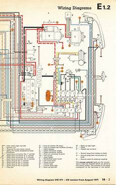 1972 vw thing wiring diagram thesamba type 4 wiring diagrams