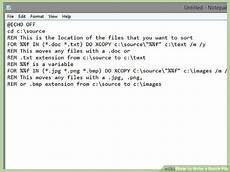 batch file copy folder to another location how to write a batch file with exles wikihow