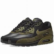 nike air max 90 leather black olive sequoia end