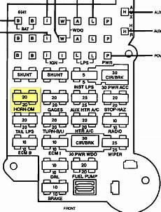 92 s10 fuse panel diagram im trying to locate the fuse for interior lights on a 92 chevy g20 conversion and is not