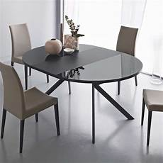table ronde en verre table ronde extensible en verre giove 4 pieds