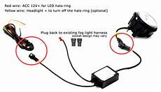 halo fog l wiring diagram 20w cree dual led fog lights halo rings daytime running lights for jeep wrangler grand