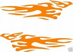 Car Truck Trailer Motorcycle Boat Flame Flames Decal