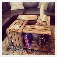 1 x vintage table basse en bois de cagette un aspect