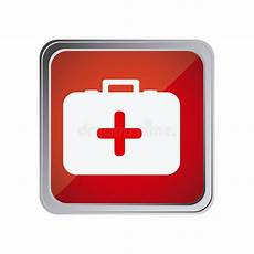 simbolo cassetta pronto soccorso bottone trasversale medico pronto soccorso immagine