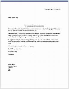 9 internship certificate formats free printable word