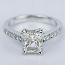 2 carat trellis radiant diamond engagement ring
