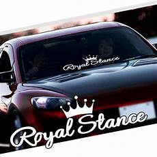 auto sticker tuning noizzy royal stance decal car sticker crown jdm vinyl