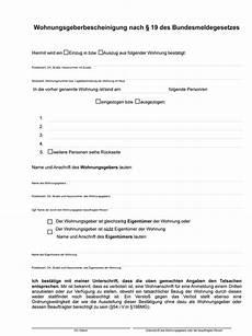 Wohnungsgeber Bescheinigung Stadt Bismark Altmark