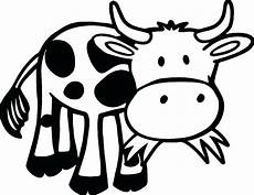 cow grass coloring page free printable