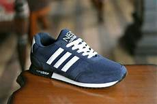 jual sepatu sport adidas neo city racer biru navy grade ori casual pria di lapak