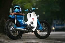 Modifikasi Motor 70 by Modifikasi Icub Honda Cub 70 Cafe Racer