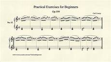 translation exercises for beginners 19148 czerny practical exercises for beginners op 599 no 12
