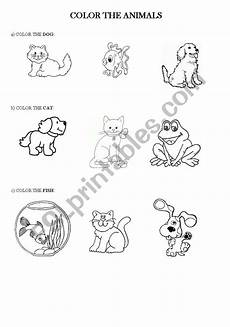 animal colouring worksheets 13824 color the animals esl worksheet by leticiaa