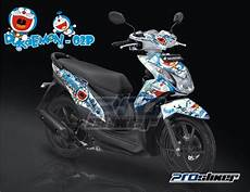 Stiker Motor Beat Fi Keren by Jual Striping Beat Fi Putih Doraemon Putih Kombinasi