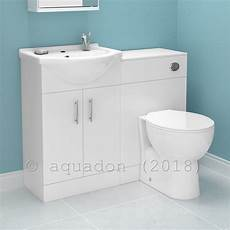 Bathroom Vanity Cabinet With Wc Toilet White Furniture