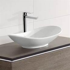 Waschbecken Villeroy Boch - villeroy boch my nature aufsatzwaschtisch oval wei 223 mit