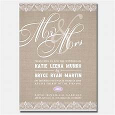 wedding invitations burlington lacy burlap www wilsonbusiness ca bridal invitations