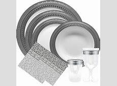56 Elegant Dinnerware Disposable, FRENCH COLLECTION BONE