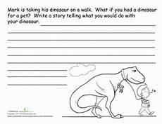 dinosaurs worksheets for 6th graders 15402 dinosaur story starter story starters 2nd grade writing narrative writing