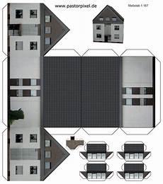 ausschneidebogen haus paper houses house template