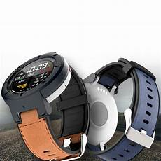 Bakeey Canvas Leather Band Amazfit by Bakeey Leather Silicone Band Replacement