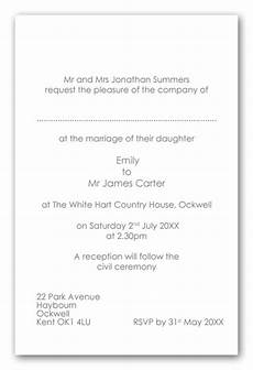wedding invitation wording ceremony and venu in same location exle 2 contemporary