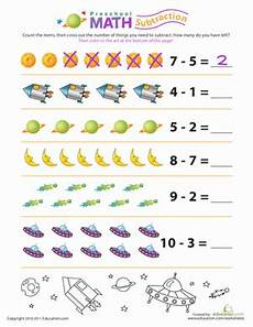 math subtraction worksheets 1 10 preschool math stellar subtraction worksheet