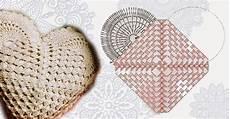 cuscino cuore uncinetto cuscino all uncinetto a forma di cuore schema