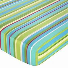 shop sweet jojo designs turquoise and lime layla stripe fitted crib sheet free shipping