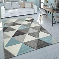 teppich kurzflor grau kurzflor teppich dreieck design t 252 rkis teppich de