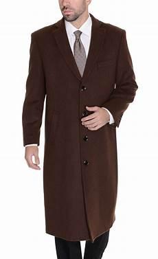 top coats for solid brown wool length overcoat top