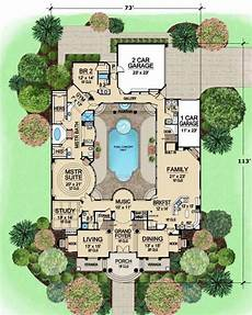 pool in the middle of the house yes please house plans