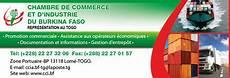 ccibf chambre de commerce et d industrie du burkina faso