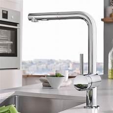 Küche Wasserhahn Grohe - grohe minta sp 252 ltischbatterie mit herausziehbarer