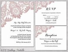 wedding reception card templates lace wedding invitation template silver gray quot antique lace
