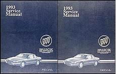 car service manuals pdf 1993 buick regal user handbook 1993 buick regal repair shop manual original 2 volume set