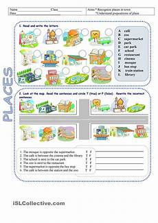 places worksheets 15930 places in town directions educacion ingles gram 225 tica inglesa clase de ingl 233 s
