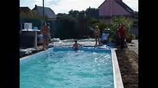 construire une piscine soi meme pool selber bauen how