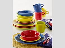 Macy's Exclusive! Fiesta Mixed Bright Colors 16 Piece Set