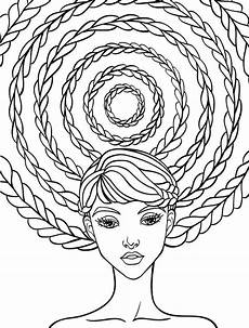 10 crazy hair adult coloring pages page 7 of 12 nerdy