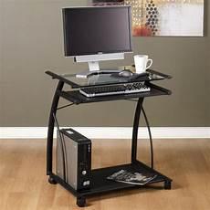 schreibtisch mit glasplatte schwarze glas tischplatte gro 223 en home office m 246 bel einer
