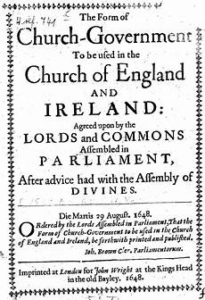 the form of presbyterial church government wikipedia