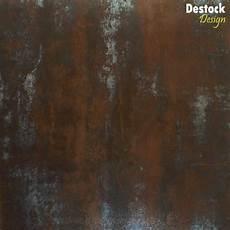 papier peint imitation acier m 233 tal rouille 60x60 rouille mobilier objets en