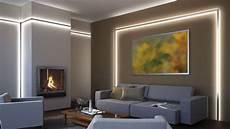 wohnzimmer led beleuchtung foto wohnraum mit indirekter led beleuchtung hinter alu
