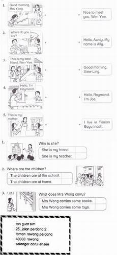 worksheet year 2 english kssr english year 2 kssr monthy test worksheet english