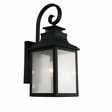 y decor 1 light imperial black outdoor wall lantern el2282ib the home depot