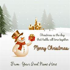 write your name merry snowman in village greetings pictures merry christmas wishes quotes