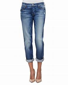 7 for all mankind josefina cropped in blue lyst