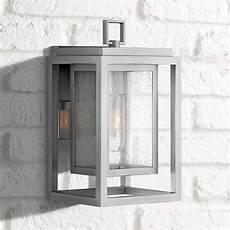 hinkley republic 12 quot high satin nickel outdoor wall light